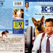 K-9 (1989) WS R1 DVD Cover & Label