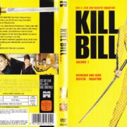 Kill Bill - Vol.1 (2003) R2 German DVD Cover & Label