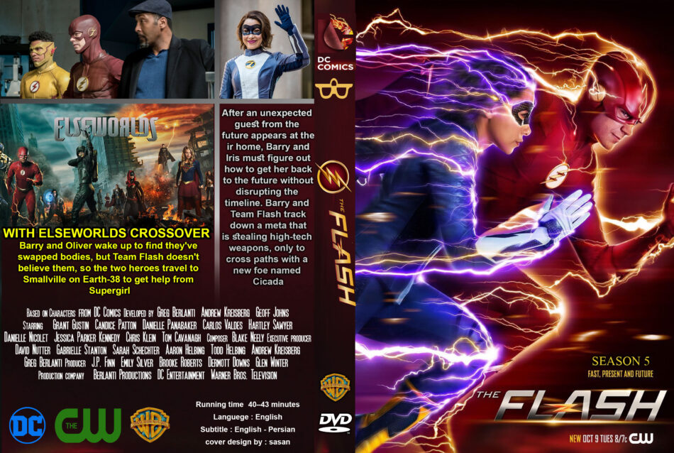 The Flash: Season 5 (2019) R0 Custom DVD Cover - DVDcover Com
