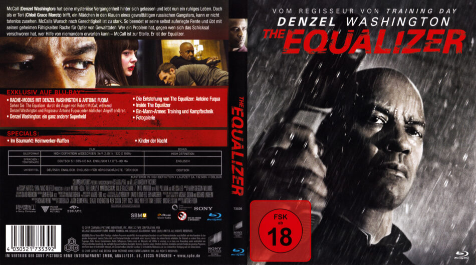 The Equalizer 2014 R2 German Blu Ray Covers Labels Dvdcover Com