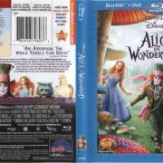 Alice In Wonderland (2010) R1 Blu-Ray Cover & Labels