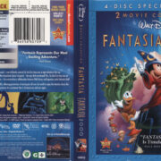 Fantasia & Fantasia 2000 (2010) R1 Blu-Ray Cover & labels