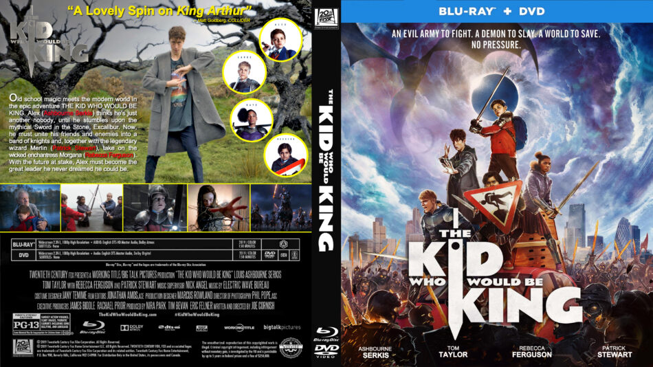 The Kid Who Would Be King (2019) R1 CUSTOM Blu-Ray Cover ...