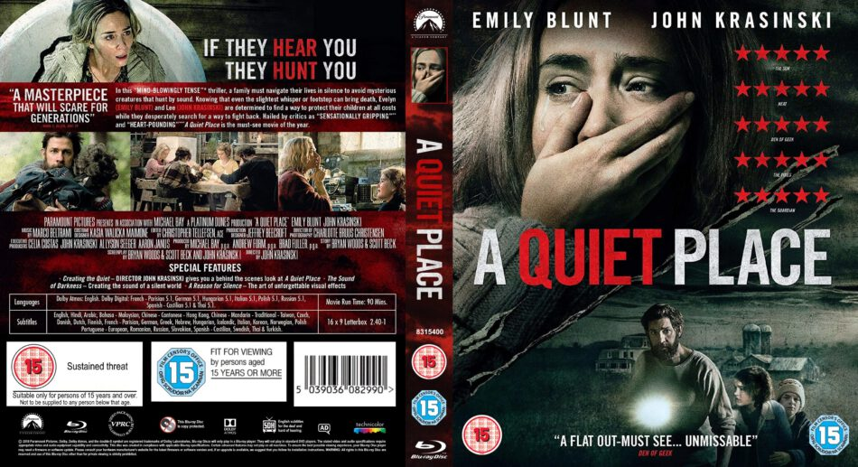 A Quiet Place 2018 R2 Blu Ray Cover Dvdcover Com