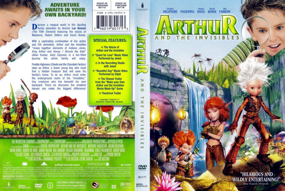 Arthur And The Invisibles 2006 R1 Dvd Cover Dvdcover Com