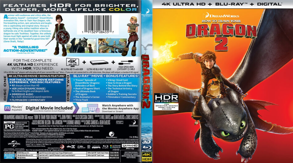 How To Train Your Dragon 2 2014 R1 Custom 4k Uhd Cover Dvdcover Com