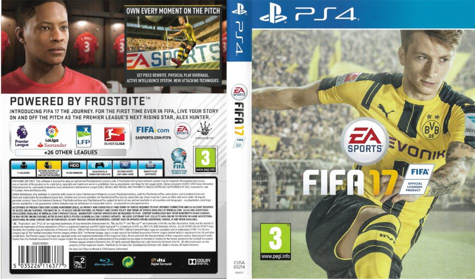 FIFA 17 PS4 Cover - DVDcover.Com