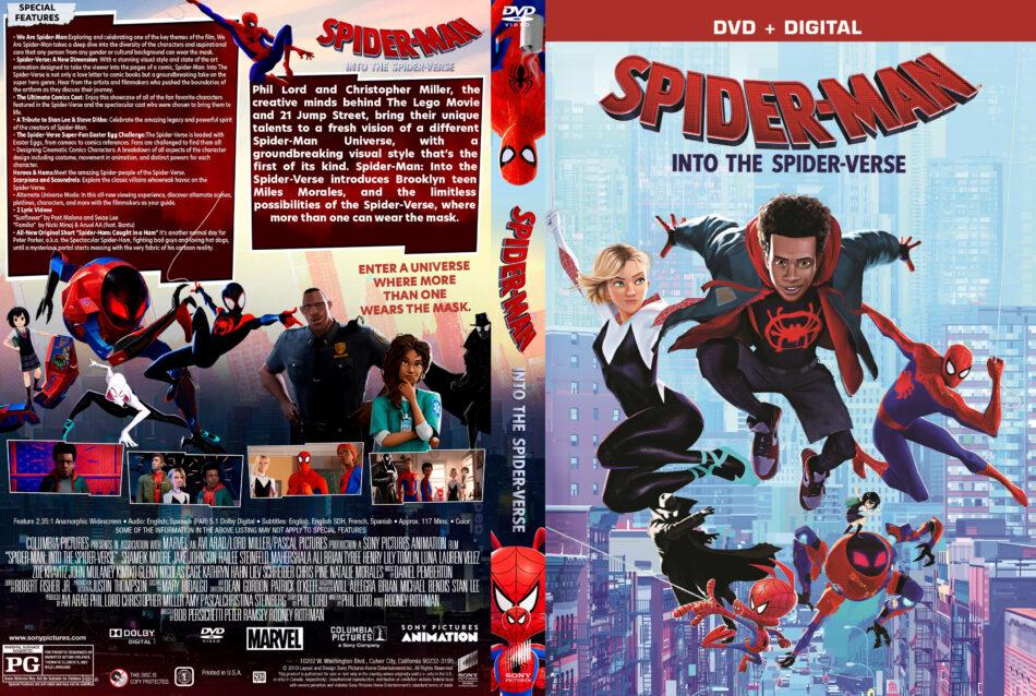 Spider Man Into The Spider Verse 2018 R1 Custom Dvd Cover Dvdcover Com