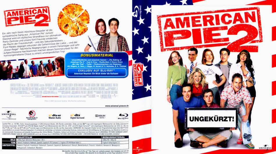 American Pie 2 2001 R2 German Blu Ray Covers Dvdcover Com