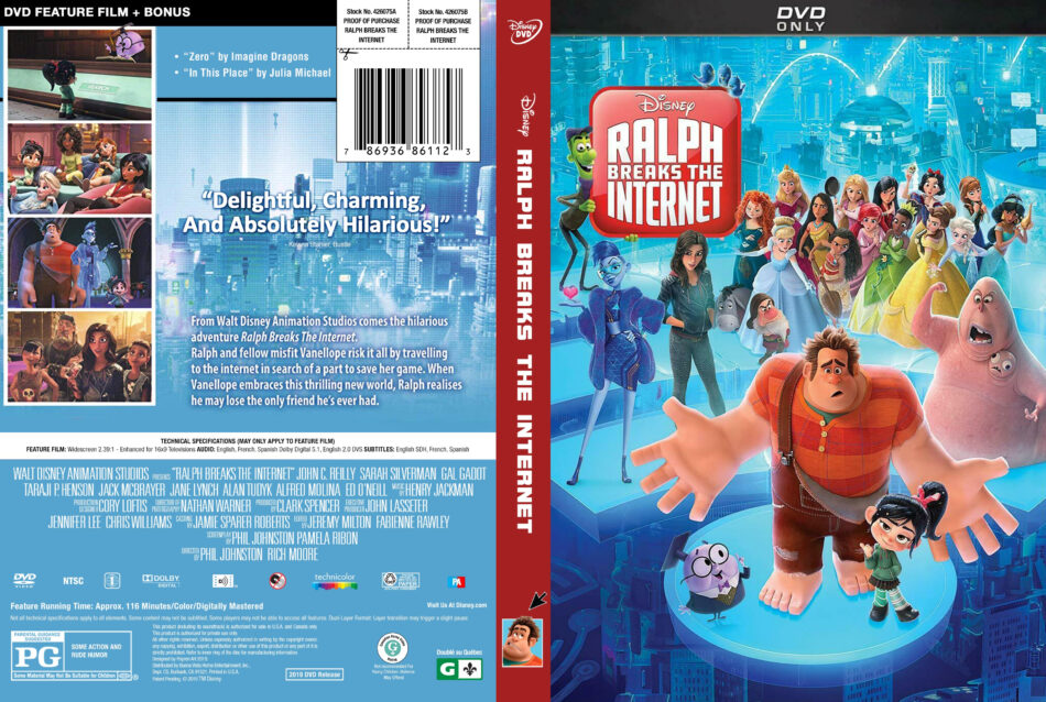 Ralph Breaks The Internet 2018 R1 Dvd Cover Dvdcover Com