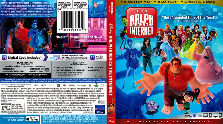 Ralph Breaks The Internet 2018 R1 4k Uhd Cover Dvdcover Com