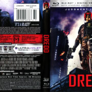 Dredd 3D (2012) R1 Blu-Ray Cover & Label