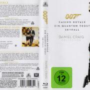 James Bond 007 - Daniel Craig Collection (2013) R2 German Blu-Ray Covers & Labels