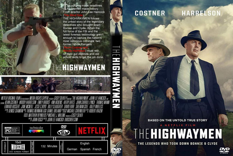 The Highwaymen (2019) R0 Custom DVD Cover - DVDcover.Com