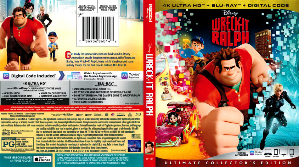 Wreck-It Ralph (2012) 4K UHD Cover - DVDcover Com