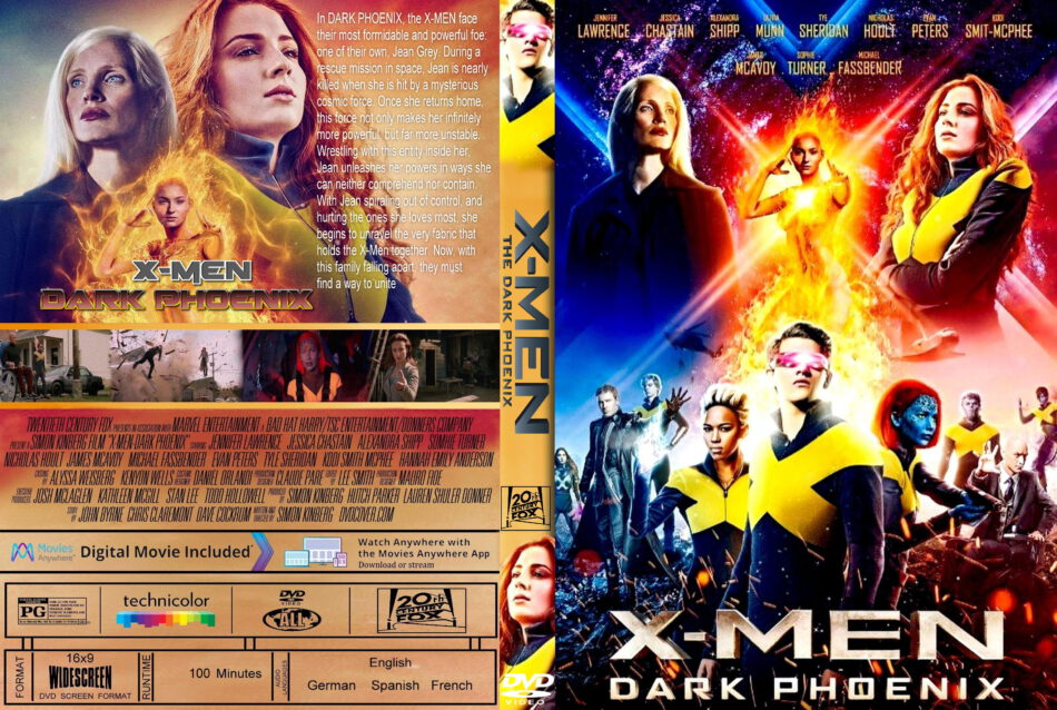 X Men Dark Phoenix 2019 R0 Custom Dvd Cover Dvdcover Com