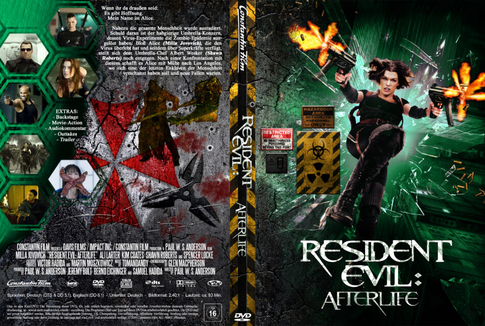 Resident Evil Afterlife 2010 R2 German Custom Dvd Cover Dvdcover Com
