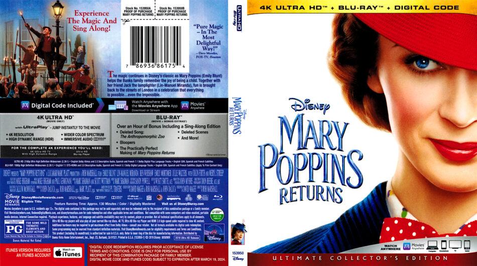 Mary Poppins Returns 2018 R1 4k Uhd Cover Dvdcover Com