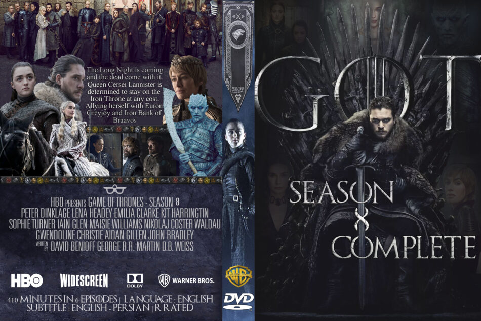 Game Of Thrones Season 8 R0 Custom Dvd Cover Dvdcover Com