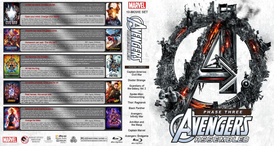 Avengers Assembled - Phase Three (10) R1 Custom Blu-Ray