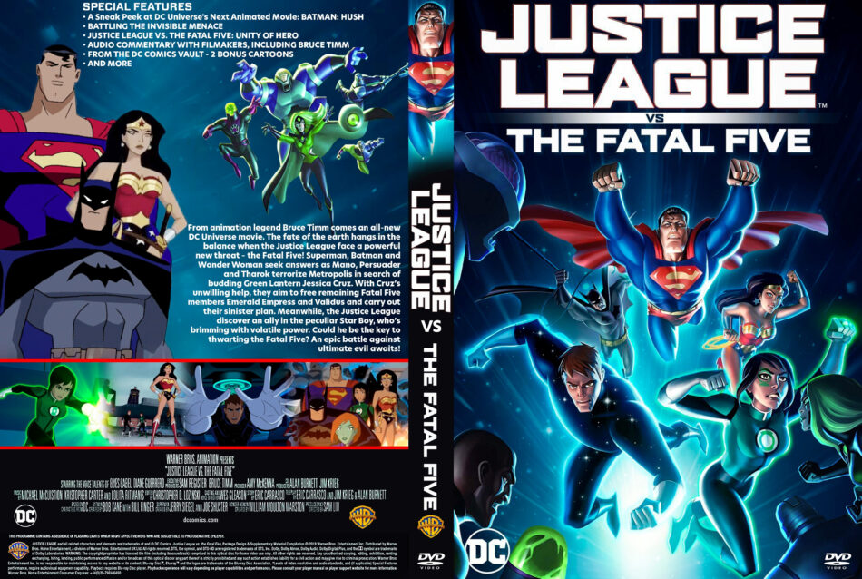 Justice League Vs The Fatal Five 2019 R1 Custom Dvd Covers Dvdcover Com