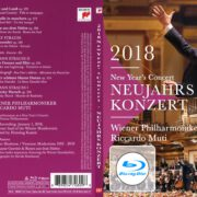 NEUJAHRSKONZERT 2018 NEW YEAR'S CONCERT CUSTOM BLU-RAY COVER & LABEL