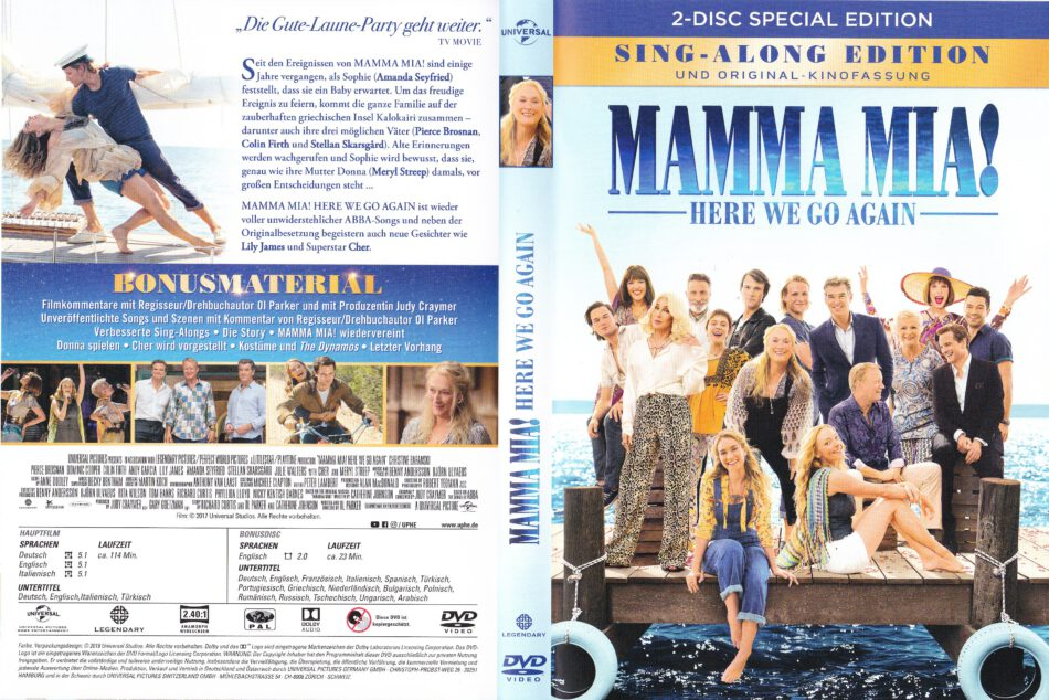 Mamma Mia Here We Go Again 2018 R2 German Dvd Covers Labels Dvdcover Com