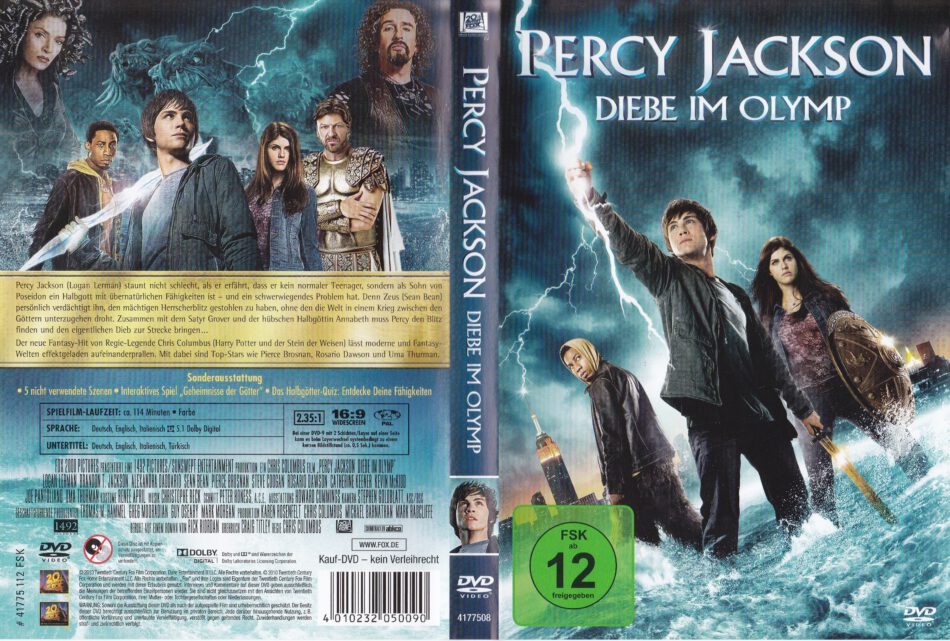 huge discount new arrivals buy best Percy Jackson - Diebe im Olymp (2010) R2 German DVD Cover ...