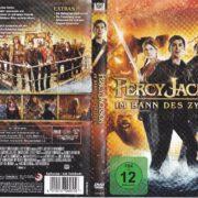 Percy Jackson - Im Bann des Zyklopen (2013) R2 German DVD Cover & Label