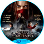 MORTAL ENGINES 3D (2018) Custom Blu-Ray Label