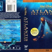 ATLANTIS THE LOST EMPIRE (2001) R1 DVD COVER & LABELS