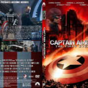 Captain America: The First Avenger (2011) R1 CUSTOM SLIM DVD COVER