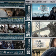 Planet of the Apes Triple Feature R1 CUSTOM 4K UHD COVER