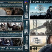Planet of the Apes Triple Feature R1 CUSTOM BLU-RAY COVER