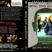 BEING JOHN MALKOVICH SPECIAL EDITION (2000) R1 DVD COVER & LABEL
