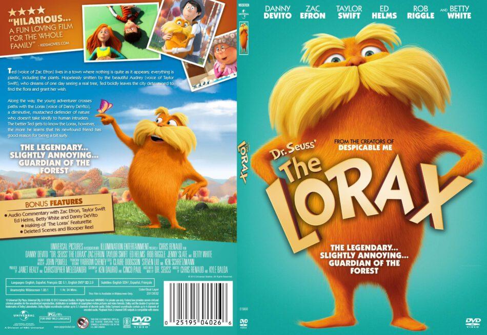 Dr Seuss The Lorax 2012 R1 Slim Dvd Cover Dvdcover Com