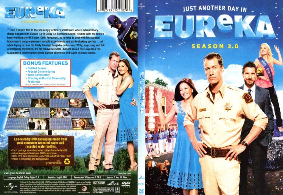 Eureka - Season 3 0 (2009) R1 SLIM DVD COVER - DVDcover Com