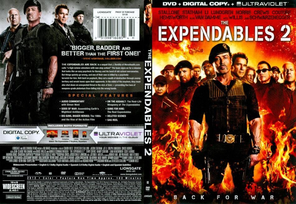 Expendables 2 2012 R1 Slim Dvd Cover Dvdcover Com