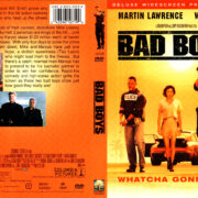 BAD BOYS DELUXE WIDESCREEN (1997) R1 DVD COVER & LABEL