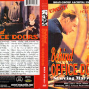BEHIND OFFICE DOORS (1931) R1 DVD COVER & LABEL
