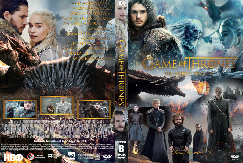 Game Of Thrones: Season 8 (2019) R1 Custom DVD Cover