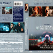 A.I. ARTIFICIAL INTELLIGENCE (2002) R1 DVD COVER & LABELS