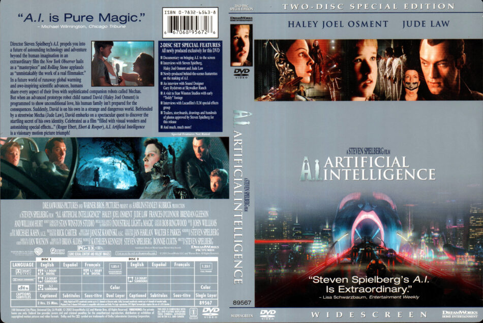 A I Artificial Intelligence 2002 R1 Dvd Cover Labels Dvdcover Com