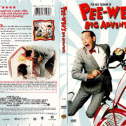 PEE WEE'S BIG ADVENTURE (1985) R1 DVD COVER & LABEL