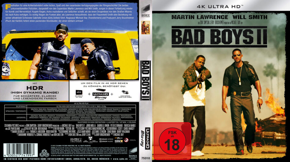Bad Boys Ii 2003 R2 German Custom 4k Uhd Covers Label Dvdcover Com