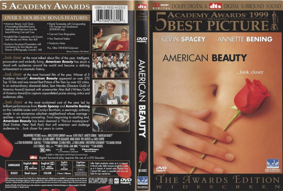 American Beauty 1999 R1 Dvd Cover Dvdcover Com