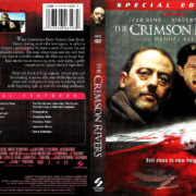 THE CRIMSON RIVERS (2001) R1 DVD COVER & LABEL