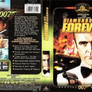 DIAMONDS ARE FOREVER (1971) SE R1 DVD COVER & LABEL