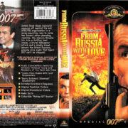 FROM RUSSIA WITH LOVE (1963) R1 SE DVD COVER & LABEL