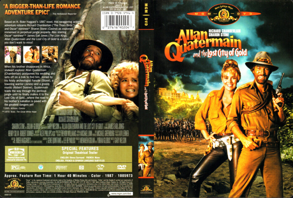Allan Quartermain And The Lost City Of Gold 1987 R1 Dvd